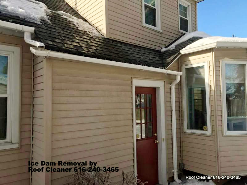 Ice Dam Removal Roof Cleaner Safely Melts Ice Dams With