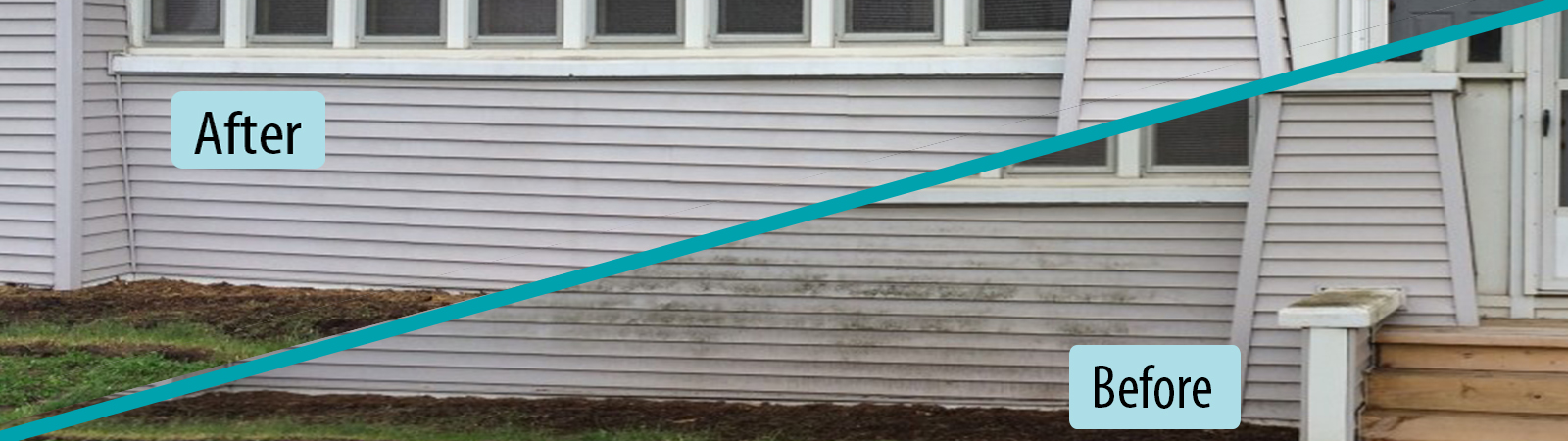 house washing by roof cleaner in grand rapids, michigan removes dirt and algae form vinyl siding and other types of exterior house finishes