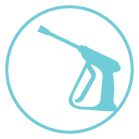 house pressure washing and power washing icon