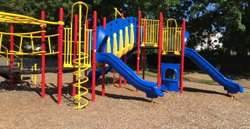 cleaning and sanitizing playground equipment to help stop the spread of coronavirus